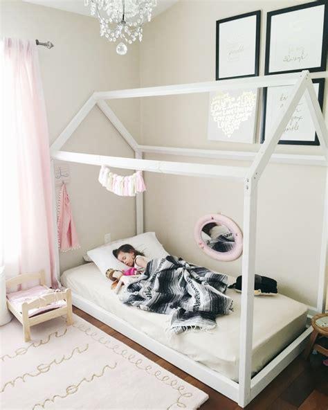24703 toddler floor bed diy house frame floor bed plan oh happy play