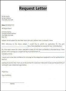 Exle Of Formal Letter Of Request by 10 Request Letter Sles Word Excel Pdf Templates