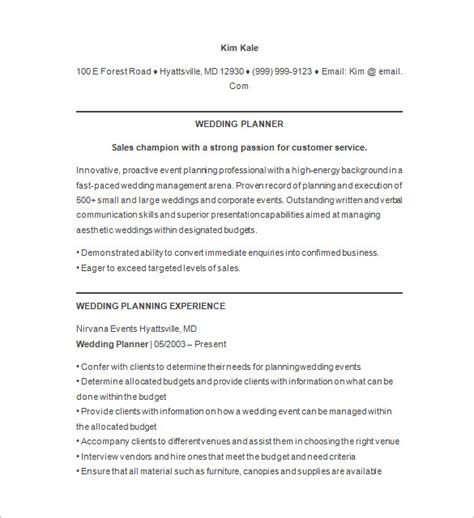 Event Planner Resume by 10 Event Planner Resume Templates Doc Pdf Free