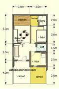 Denah Rumah Type 60 LT 72 M2 Design Arsitektur Denah 2D Rumah Sederhana Design Gambar Desain Rumah Sederhana Minimalis KPR BTN Type 21 60 Contoh Gambar Denah Rumah Minimalis Modern Sederhana