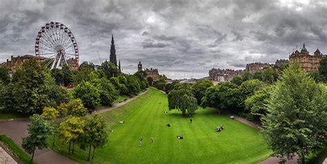 edinburgh scotland princess street gardens nature