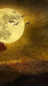 Autumn moon moonlight digital art artwork Wallpaper (39141)