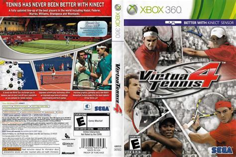 Virtua tennis 4 is a tennis simulation game featuring 22 of the current top male and female players and with the xbox 360 version of the game the developers of the original virtua tennis are taking. Virtua Tennis 4 - XBOX 360   VideoGameX