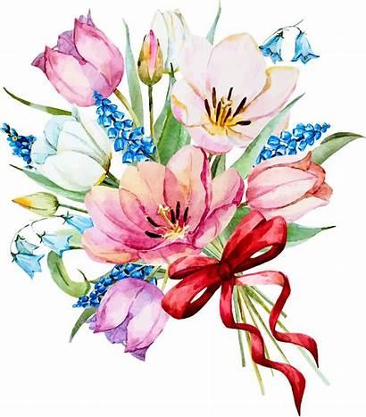 Flowers Spring Watercolor Bouquet Flower Tissue Paper