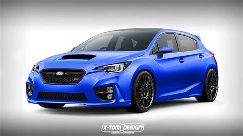 subaru sti 2018 subaru impreza wrx sti rendered as a hatchback