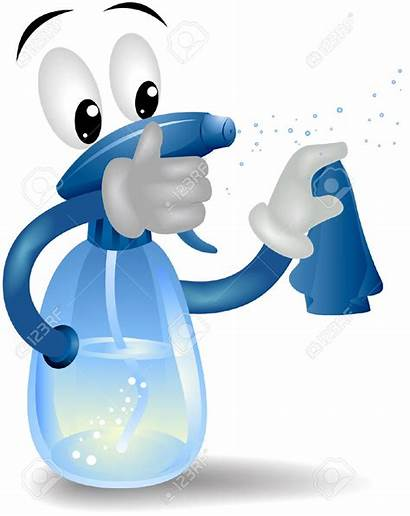 Clipart Spray Bottle Cleaning Clip Animated Service