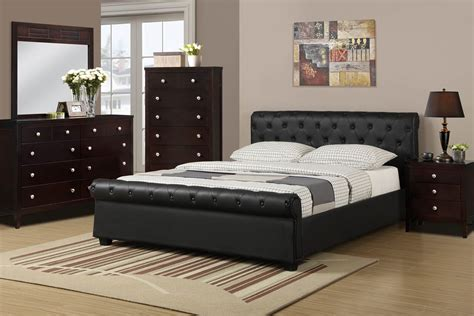 Leather Bed by Black Faux Leather Bed Frame
