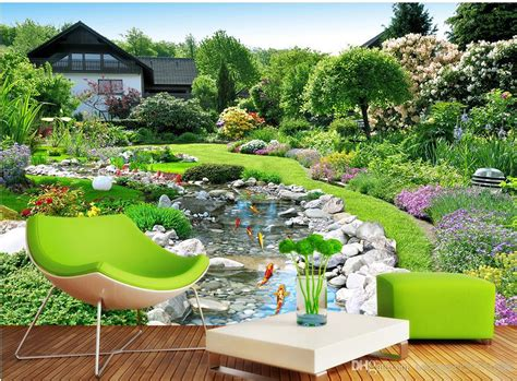 garden landscape background wall background painting
