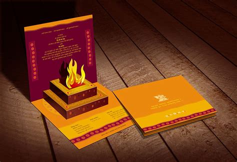popup indian traditional wedding invitationcard  www