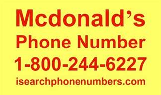 mcdonald s phone number order delivery corporate