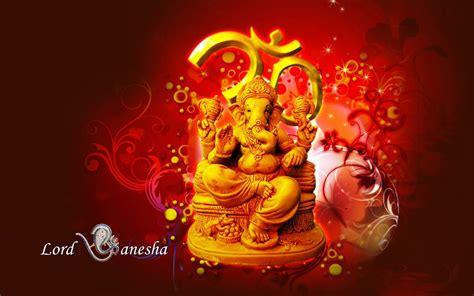 lord ganesha hindu hd wallpaper red  yellow color