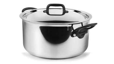 mauviel mcook pro stainless steel stock pot  quart cutlery