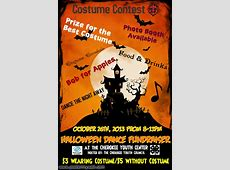 Cherokee Youth Council Halloween Dance Fundraiser flyer