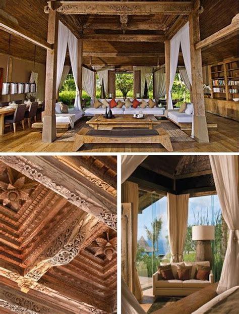 natural modern interiors joglo living khayangan estate