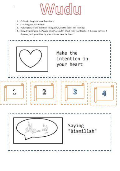 wudu worksheet islamic kids activities worksheets