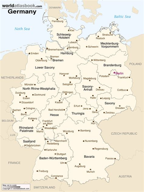 map  germany  states  cities germany map