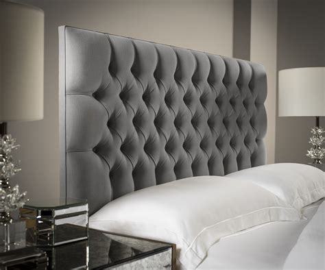 Best Fabric For Headboards Modern Grey Tufted King Size