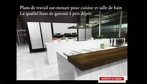 Plans De Travail Sur Mesure : plan de travail cuisine plan de ~ Melissatoandfro.com Idées de Décoration