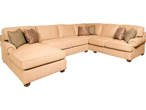 Upholstery In Nc by King Hickory Living Room Henson Fabric Sectional 6000 Sect