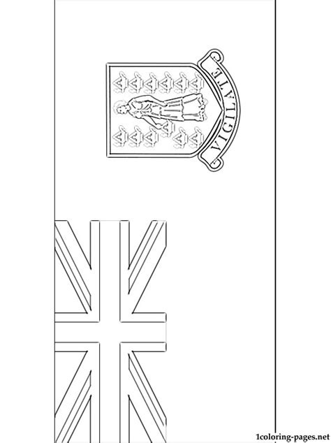 british virgin islands flag coloring page coloring pages