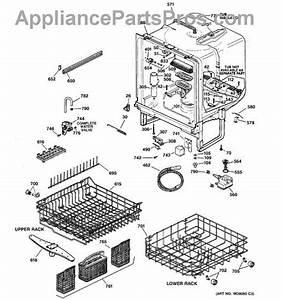 Ge Wd28x10049 Upper Dishrack Assembly