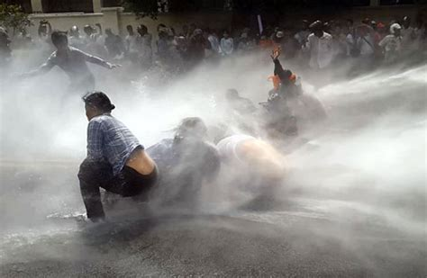 water cannon crackdown  cambodian land activists