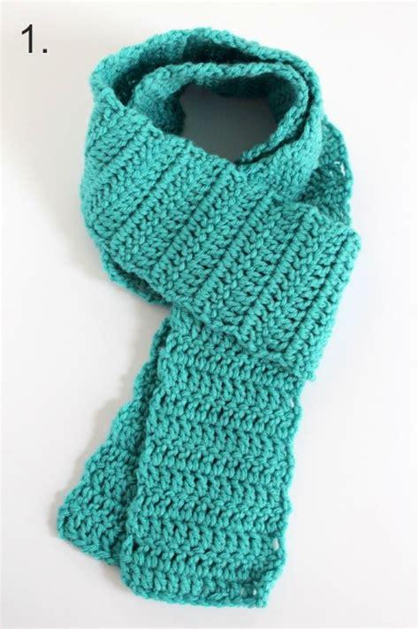 ways  wear  crocheted scarf   takes
