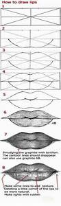 How To Draw A Realistic Lips Step by step