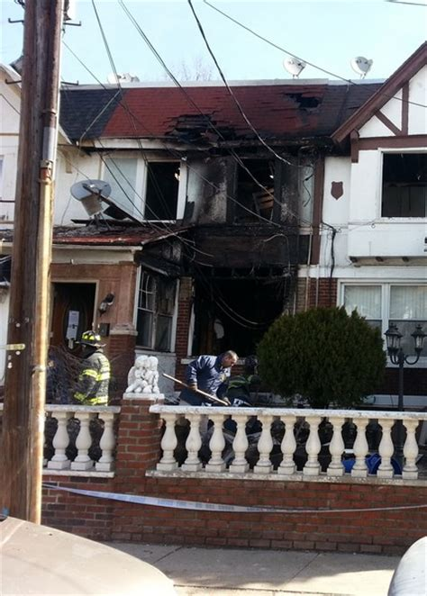 fire restoration project   street  woodhaven ny