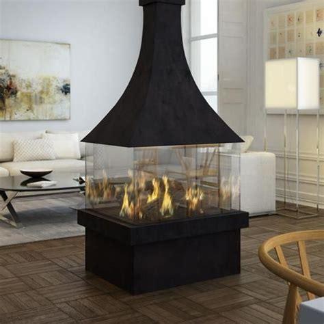 ortal ortal island  modern canopy gas fireplace
