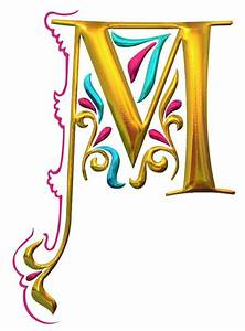 illuminated initial alphabet pinterest With lighted letter m