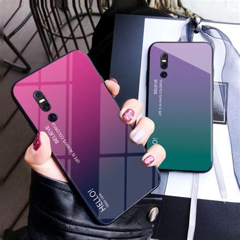 gradient aurora tempered glass case cover  vivo