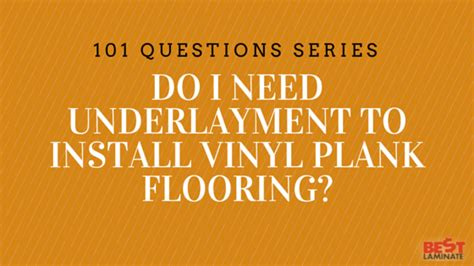vinyl plank flooring underlayment need to install family feud