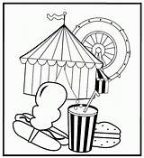 Circus Coloring Pages Printable Peanut Treats Templates Kidprintables Return Main Template Coloring2print sketch template