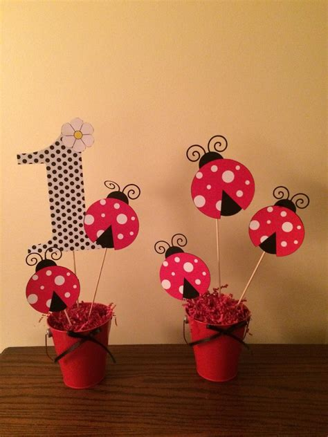 Lady Bug Centerpieces By Bellissimaparty On Etsy
