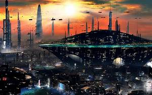 Sci, Fi, Futuristic, City, Cities, Art, Artwork, Wallpapers