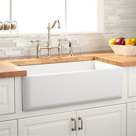 33 quot grigham reversible farmhouse sink white kitchen
