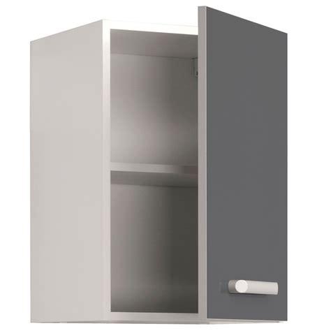 porte cuisine pas cher meuble haut de cuisine contemporain 1 porte 40 cm blanc