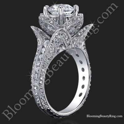 1 78 ctw large engraved blooming ring