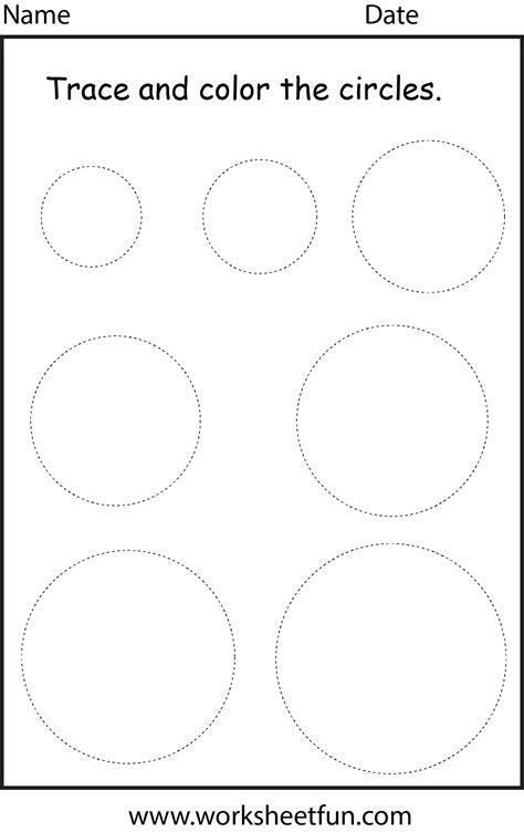 shape circle  worksheet  printable worksheets