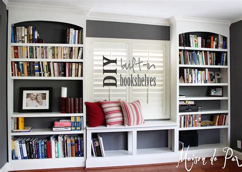 Built In Bookcases by Diy Built In Bookshelves Maison De Pax