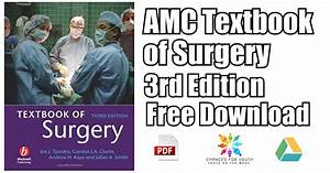 Amc Textbook Of Surgery 3rd Edition Pdf Free Download