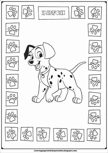 Coloring Dalmatians 101 Pages Patch Printable Cartoon