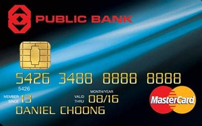 Visa, mastercard, discover, american express, or a store credit card. Public Bank MasterCard Standard - First Year Free