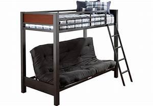 Louie Gray Twin Futon Loft Bed - Bunk/Loft Beds Colors