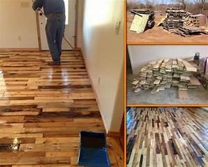 DIY Pallet Wood Flooring Tutorial DIY Pallet Ideas