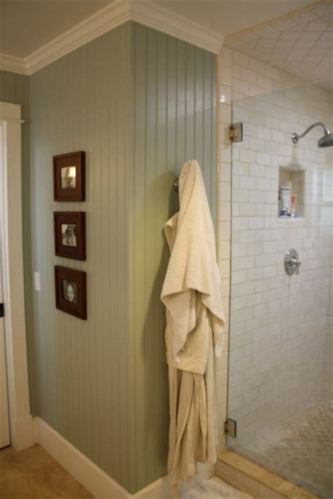 Full Height Beadboard Walls In Bathroom Also Love Paint