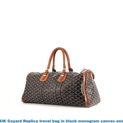 uk goyard replica travel bag  black monogram canvas