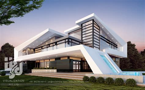modern hotel exterior 3d architectural visualization 3d exterior night rendering