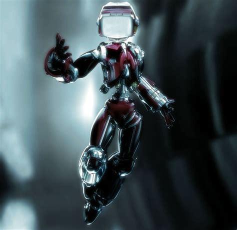 futuristic  glamorous  robot character